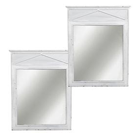 Pareja espejos blancos