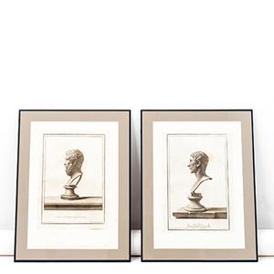 grabados bustos clasicos