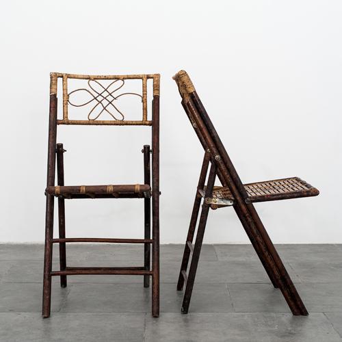 Set de ocho sillas de bamb tesla antig edades - Sillas de bambu ...