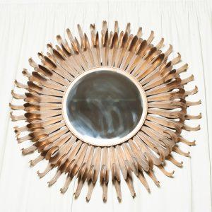 _Espejo metal dorado