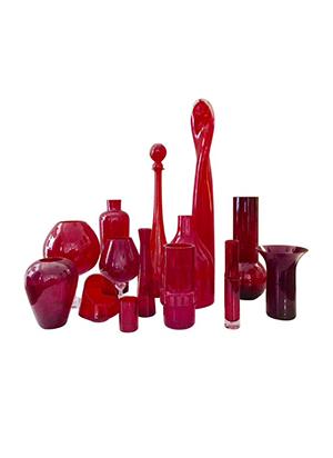 Conjunto cristales rojos